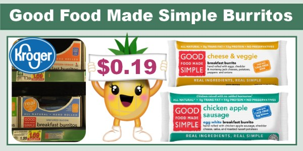 Good Food Made Simple Burritos coupon deal