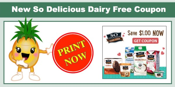 So Delicious Dairy Free Coupon