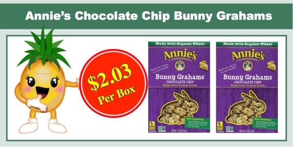 Annie's Chocolate Chip Bunny Grahams