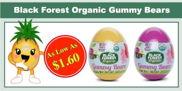 Black Forest Organic Gummy Bears Easter Egg