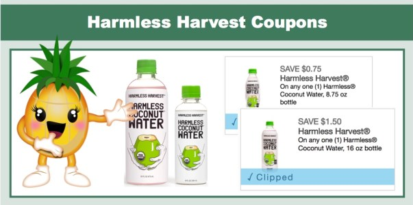 Harmless Harvest Organic Coconut Water Coupons