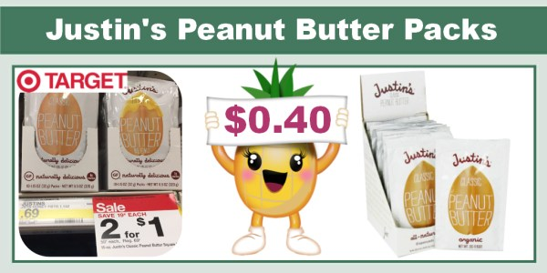 Justin's Peanut Butter Packs Coupon Deal