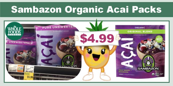 Sambazon Organic Acai Superfruit Packs Coupon Deal