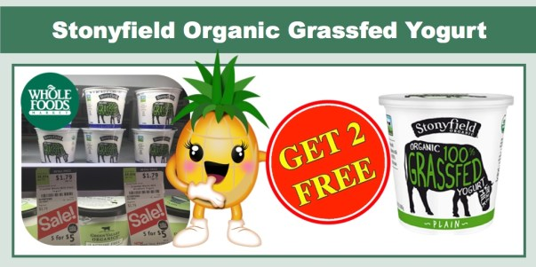 Stonyfield Organic Grassfed Yogurt Coupon Deal