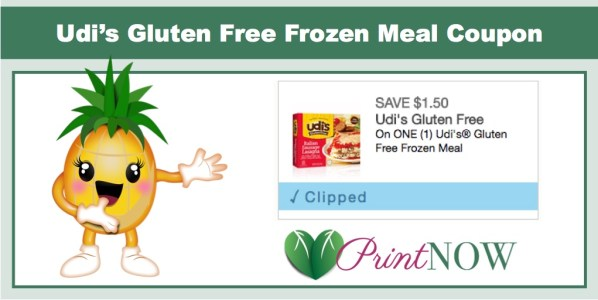 Udi's Gluten Free Frozen Meal Coupon