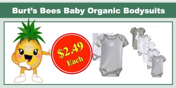 Burt's Bees Baby Organic Bodysuits