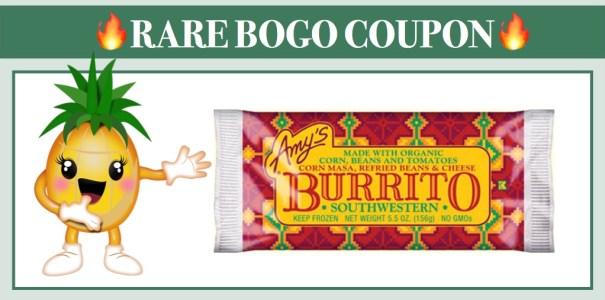 Amy's Burrito or Wrap BOGO Coupon