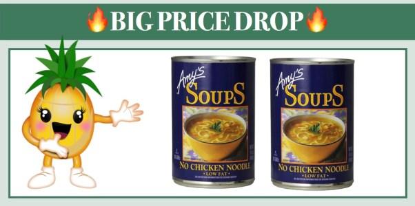 Amy's Soups Vegan Low Fat No Chicken Noodle 12 Pack