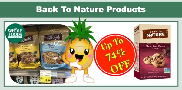 Back To Nature Products Coupon Deal