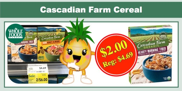 Cascadian Farm Organic Cereal Coupon Deal