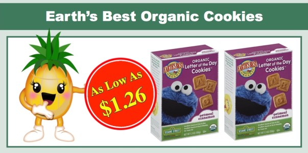 *HOT* Earth's Best Organic Letter of the Day Cookies 6 Pack