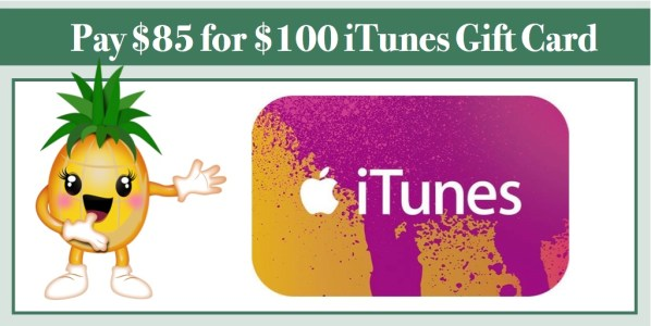 $100 iTunes Gift Card for $85!