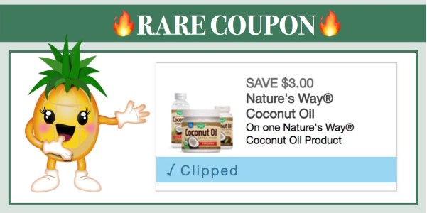 Nature's Way Coconut Oil Coupon