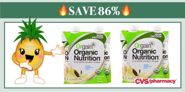 Orgain Organic Protein Shake 4 Pack