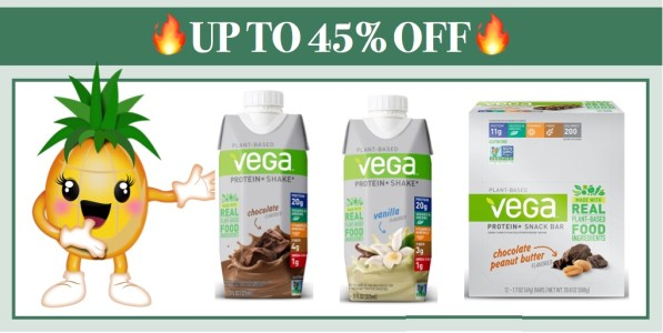 Vega Protein+ Snack Bar or Vega Protein+ Ready to Drink