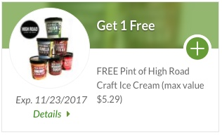 High Road Ice Cream Coupon