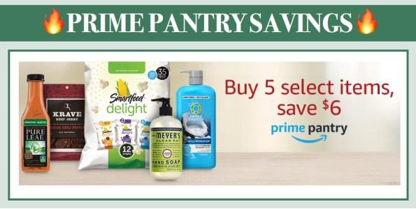 Buy 5, Save $6 with Prime Pantry Savings on Select Items!