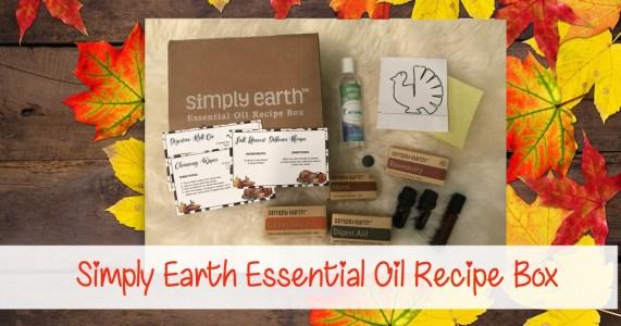 Simply Earth Essential Oil Recipe Box November FB