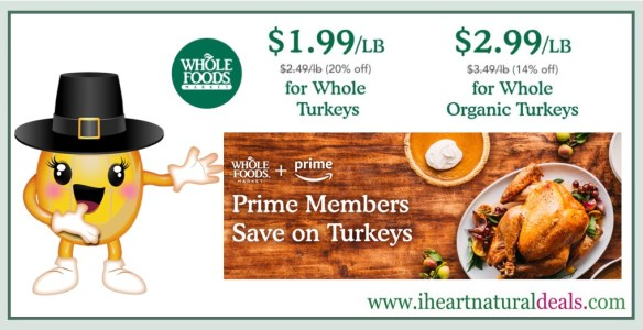 Amazon Prime Members - Save on Organic Turkey at Whole Foods!