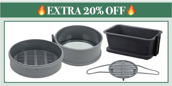 Extra 20% off Genuine Instant Pot Cake Pan, Loaf Pan, Steam Rack and Steamer Basket!