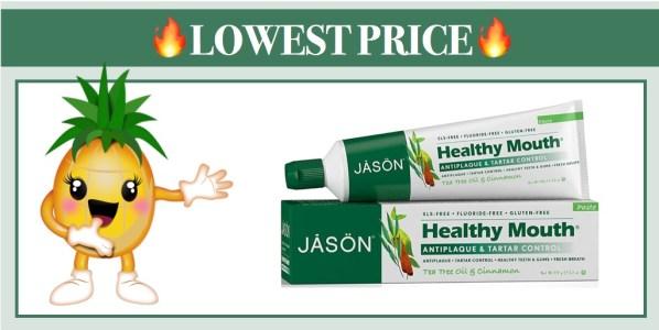 Jason Healthy Mouth Toothpaste, Tea Tree Oil & Cinnamon