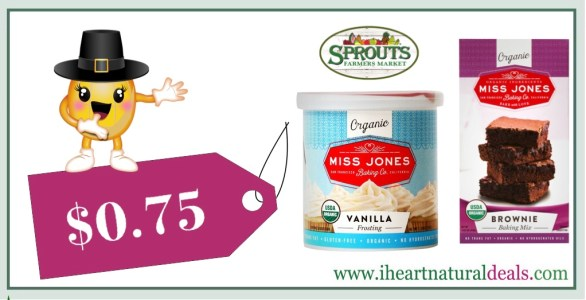 Miss Jones Organic Baking Mix or Frosting