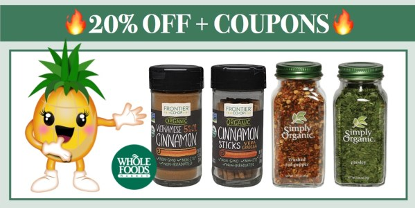 Simply Organic and Frontier Co-op Spices