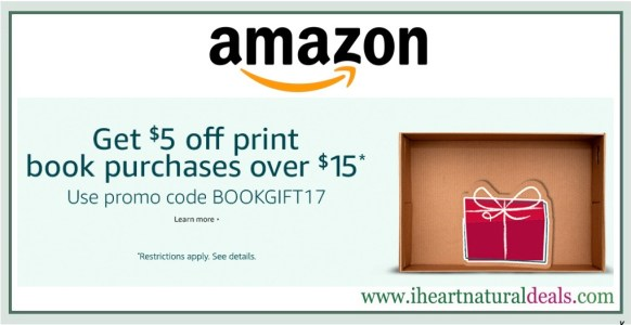 Amazon: $5 off $15 in Print Book Purchases