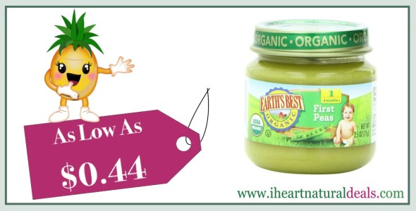 Earth's Best Organic Stage 1 Baby Food