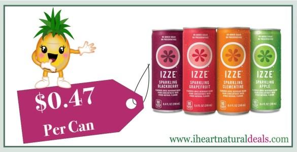 IZZE Sparkling Juice Variety Pack 24 Ct