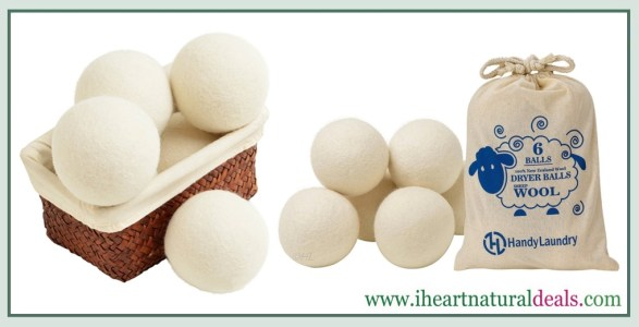 Handy Laundry Wool Dryer Balls 6 Pack