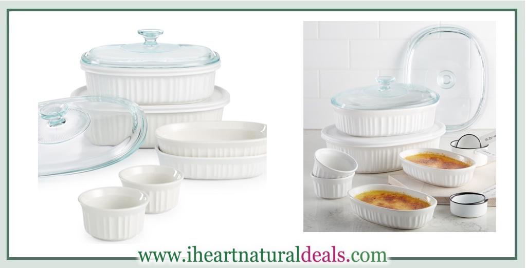 Corningware French White 10 Pc Bakeware Set Only 2999 Reg 80