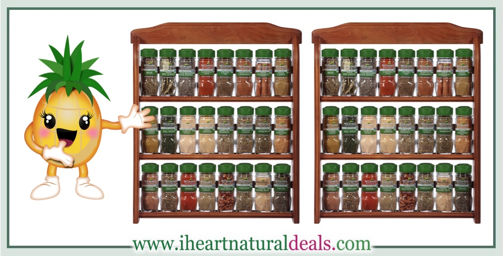 Organic Spice Rack Best McCormick Gourmet Organic Wood Spice Rack 60 Herbs Spices As
