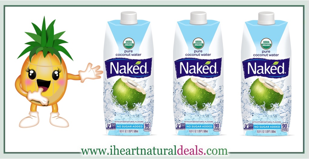 Naked 100% Naked Coconut Water, 11.2-Ounce Containers
