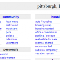 Pittsburgh has craigslist: pittsburgh classifieds for jobs, apartments, personals, for sale, services, community, and events