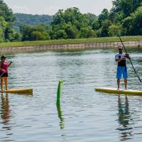 Race on Water - Standup Paddleboard Race at the Lake Arthur Regatta