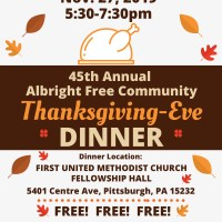 Help Serve A Free Thanksgiving-Eve Dinner