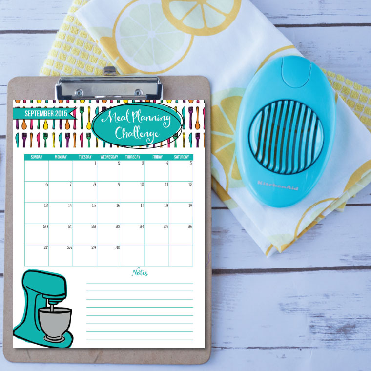 Meal Planning Challenge from I Heart Planners [Weekly Round-Up at High-Heeled Love]
