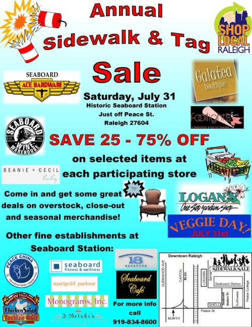 sidewalk and tag sale at seaboard stationsidewalk and tag sale at seaboard station
