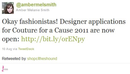 Activate Good Couture for a Cause Designer Applications