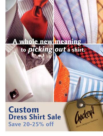 Chockey's Mens Custom Shirt Sale
