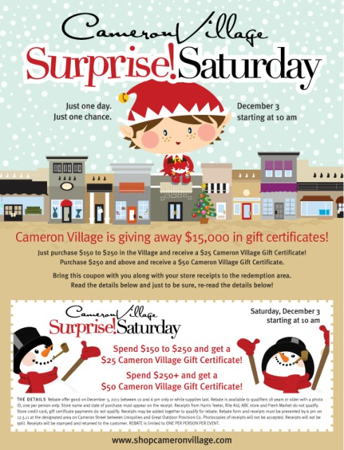 Surprise Saturday at Cameron Village