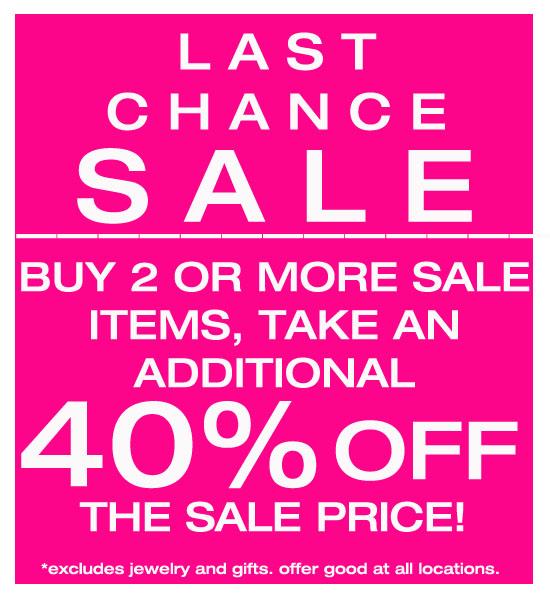 Uniquities last chance sale