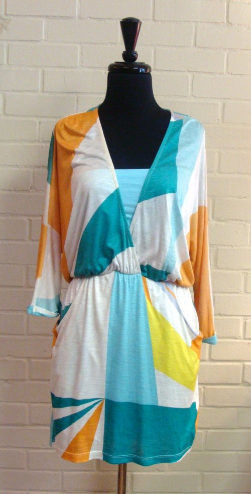 Summer deep v-neck dress at Gypsy Jule in Downtown Raleigh, $125