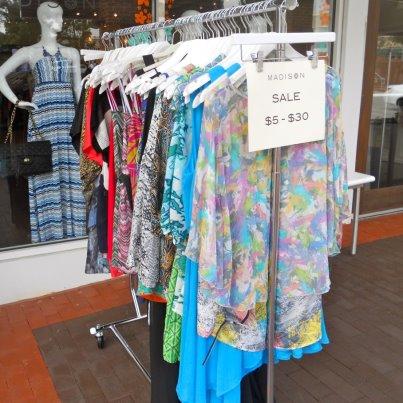 Madison markdowns at Cameron Village Sidewalk Sale