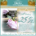 Fairview Garden Center pottery sale