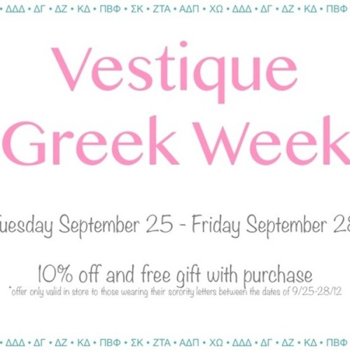 Greek Week at vestique