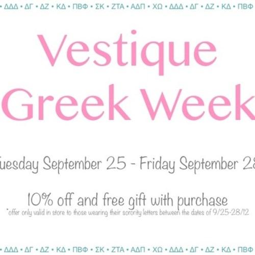 Greek Week at vestique