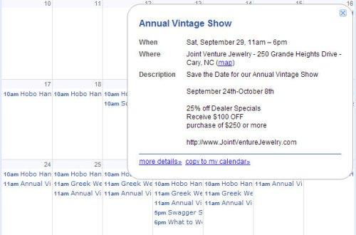 September 28 I Heart Retail Calendar