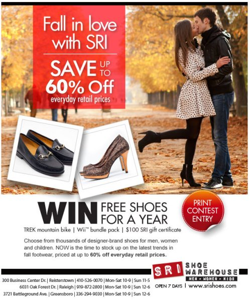 Win Shoes for a Year at SRI